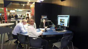 Huddle Desk on JM Stand ISE 2017 AV Integrators